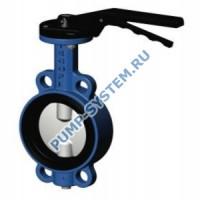Затвор дисковый поворотный Tecofi, чугун, диск нерж. сталь, с редуктором, PN 16, DN 150