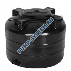 Бак для воды Акватек ATV-1000 (черный) с поплавком (Миасс)