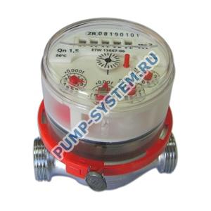 """Счетчик горячей воды ETW-I-N-MZ с импульсным выходом, q=1,5м3/ч, длина 80мм, Ду 1/2"""""""