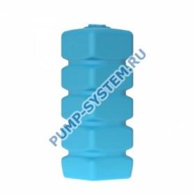 Бак для воды Акватек Quadro W-1000 (синий) с поплавком